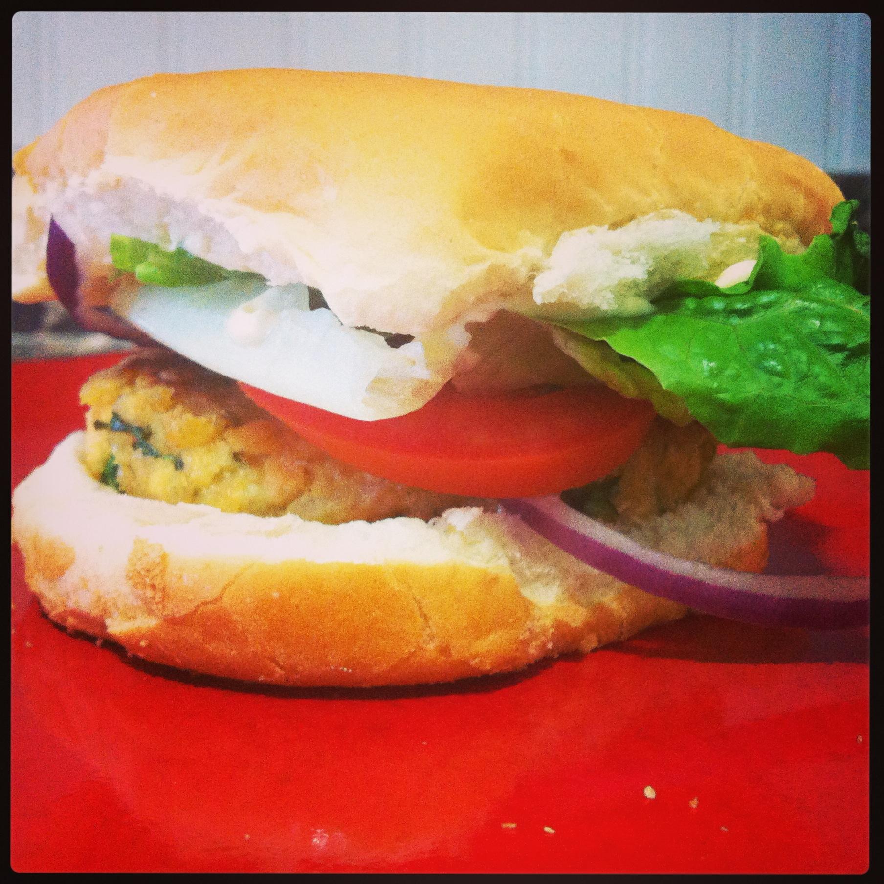 Salmon Patty Burger