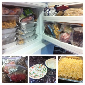 Freezer Meal Collage